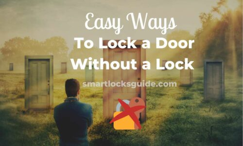 lock a door without a lock