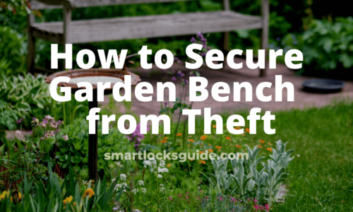 how to secure garden bench from theft