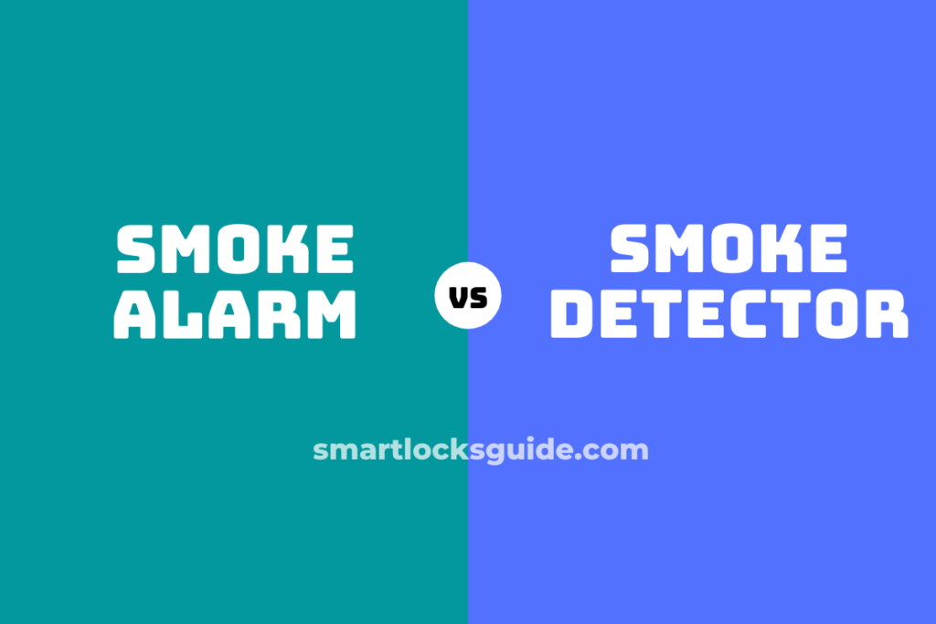 smoke alarm vs smoke detector