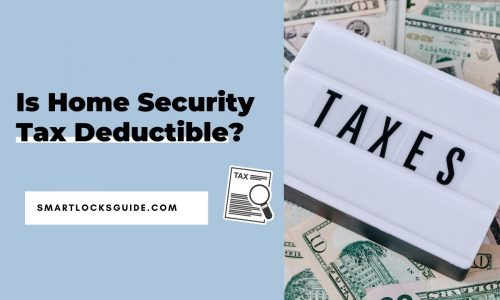 is home security tax deductible